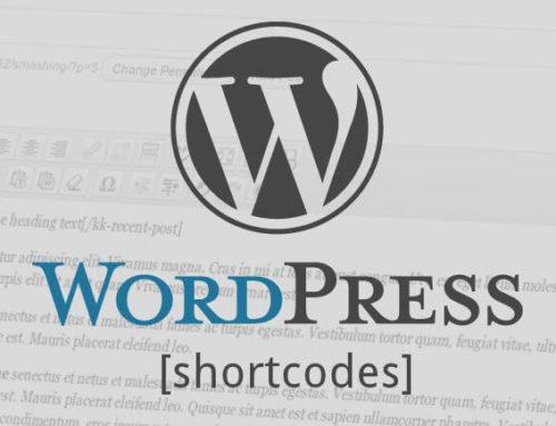 Shortcodes para diseño web con WordPress